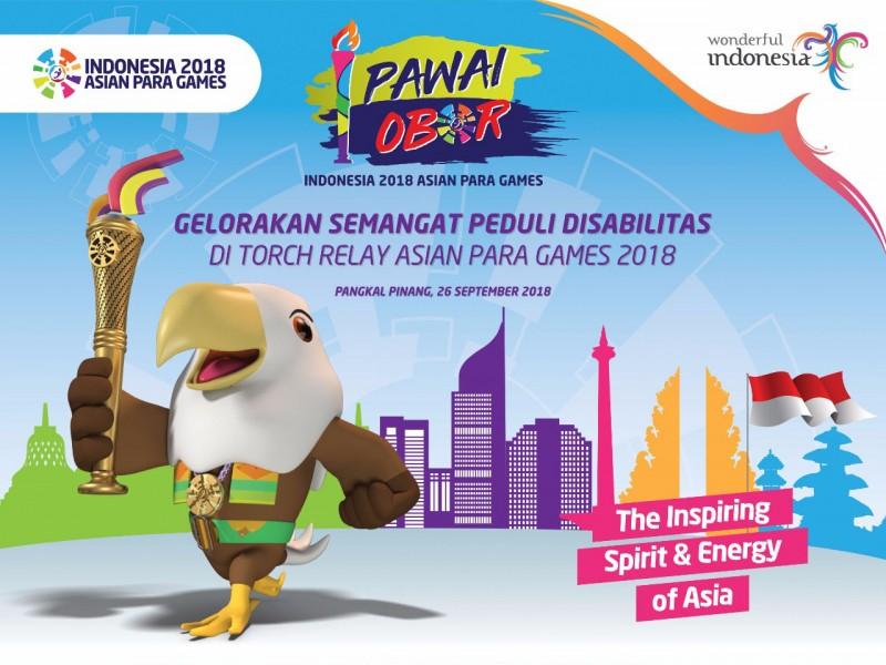 Ayo Saksikan dan Sukseskan Pawai Obor Indonesia 2018 Asian Para Games di Pangkalpinang