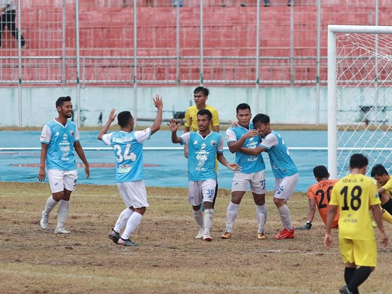 Liga 2 2019: Risky 'Hulk' Novriansyah Hattrick, Babel United Lumat Perserang 4-1