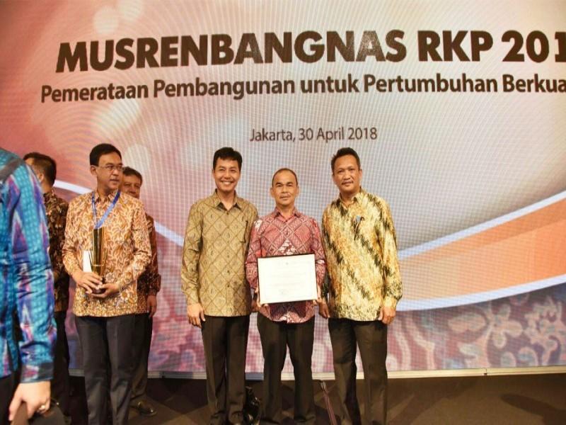 Pemkab Bangka Raih Penghargaan Perencanaan Pembangunan dari Bappenas