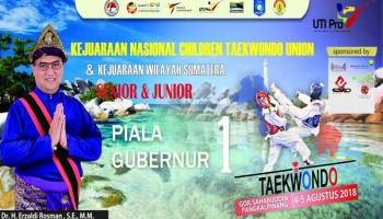 500 Atlet Nasional Siap Bertarung di Kejurnas Taekwondo Piala Gubernur Babel 2018