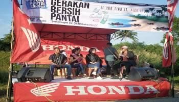 ASP Honda Muntok Rangkul Milenial Peduli Sampah