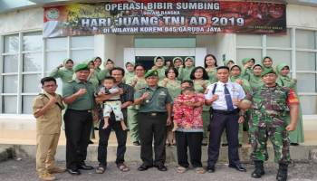Baksos HUT TNI 74, Babinsa Bawa Pasien BiBir Sumbing Dari Desa Terpencil