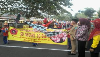 Bupati Bangka Buka Lomba Parade Drum Band
