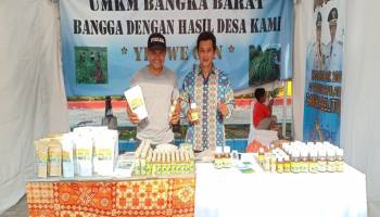 Desa Beruas Promosikan Sorgum dan Serai Wangi di Pameran SAIK 2019