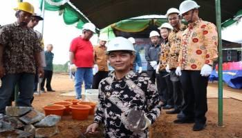 Hadiri Peletakan Batu Pertama Pembangunan PT. MAS, Bupati Imbau Masyarakat Turut Menjaga Iklim Investasi