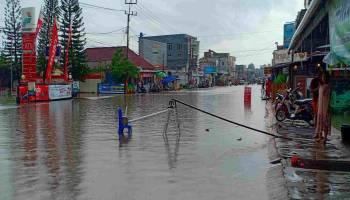 Hujan Deras, Sejumlah Kawasan di Pangkalpinang Terendam Banjir