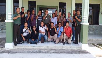 Jalin Keharmonisan, Dandim 0431/Bangka Barat Kumpul Bareng Wartawan