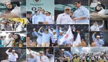 Kampanye Akbar Prabowo Sandi di Pangkalpinang Dalam Jepretan Kamera