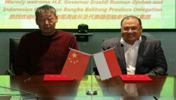 Kantongi Izin ke China, Gubernur Babel Bidik Kerjasama Pasir Silika dan Hilirisasi Industri Timah
