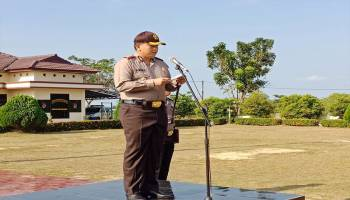 Kapolres Bangka Barat Pimpin Apel Gelar Pasukan Ops Ketupat Menumbing 2018