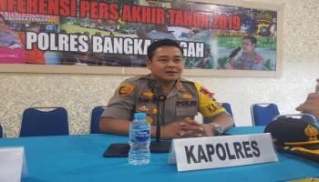 Kriminalitas Meningkat Sepanjang Tahun 2019, Polres Bangka Tengah Tangani 132 Kasus