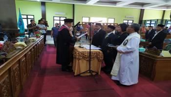 Mehoa Resmi Pimpinan DPRD Bangka Tengah