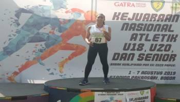 Nie Anggelani Raih Medali Emas di Kejurnas Atletik 2019