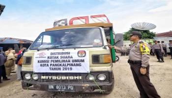 Parade Foto Pendistribusian Logistik Pemilu di Kota Pangkalpinang