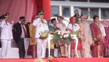 Parade Foto Peringatan Detik-detik Proklamasi Kemerdekaan RI di Bangka Belitung
