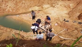 Polres Basel Amankan Pelaku Penambangan Ilegal di Kaki Bukit Muntai