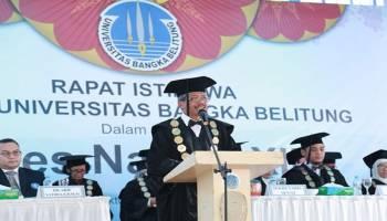 Puncak Perayaan Dies Natalis Ke-13 UBB Diisi Orasi Ilmiah Rektor IPB