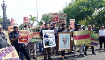 Ratusan Jurnalis Bali Tolak Pemerintah Beri Remisi Pembunuh Wartawan