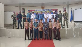Ratusan Siswa Siswi SMA se Babel Antusias Ikuti Sosialisasi Perekrutan Prajurit TNI AL di Basel