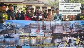 Rayakan HUT ke-7, Komunitas Palawidja Bike Bangka Gowes Bareng Bupati