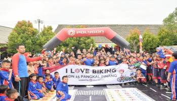 Wow, 700 Pelajar Ikut  Sosialisasi Safety Cycling By Polygon